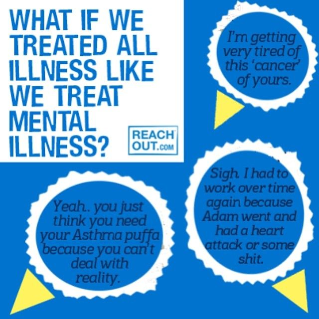 Treat All Illness Like We Treat Mental Health?