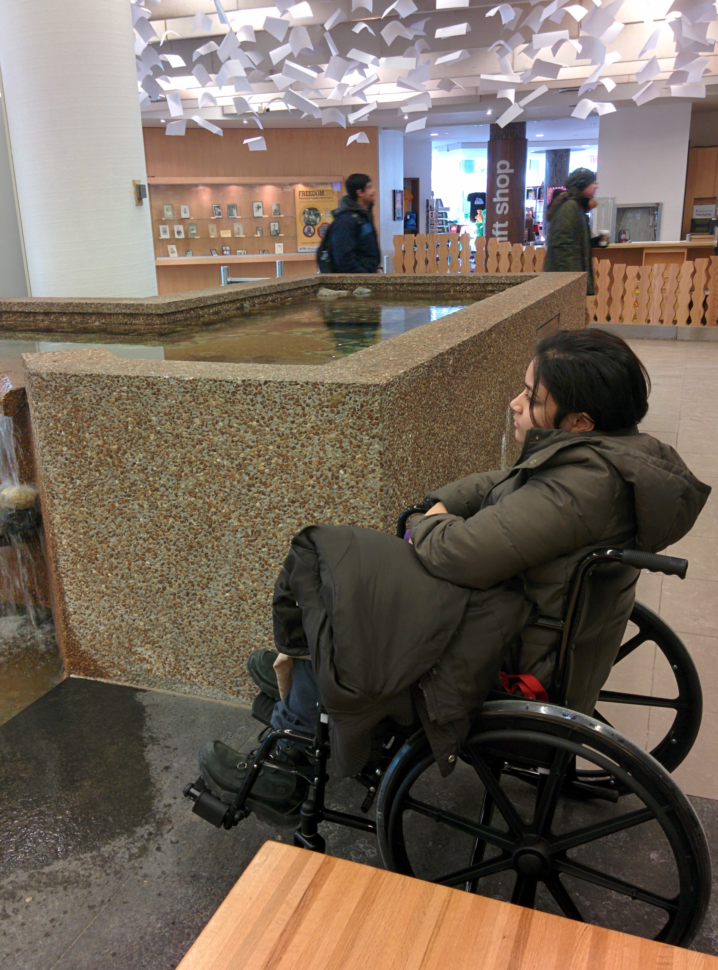 Nadha in a Wheelchair